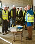 One of the farm and farmer safety demonstrations staged during the IOSH event at Mountbellew Agricultural College