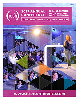 IOSH 2017 will take place at the ICC, in Birmingham, UK, on 20-21 November