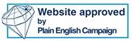 Plain English Campaign crystal mark accreditation