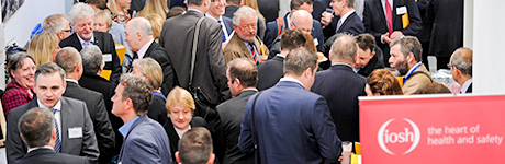 Crowd of people at an IOSH campaign launch