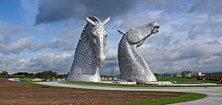Scotland Banner Kelpies
