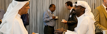 Delegates networking at the Middle East Annual Conference