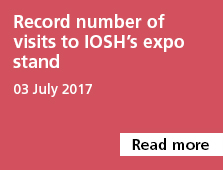 Record numbrt of visits to IOSH's expo stand