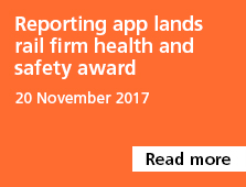 Reporting app lands rail firm health and safety award