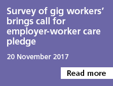 Survey of gig workers' brings call for employer-worker care pledge