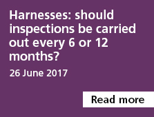 Harnesses: should inspections be carried out every 6 or 12 months?