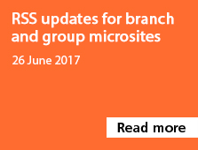 RSS updates for branch and group microsites