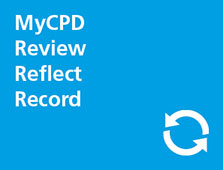 MyCPD, Review, Refelect, Record button