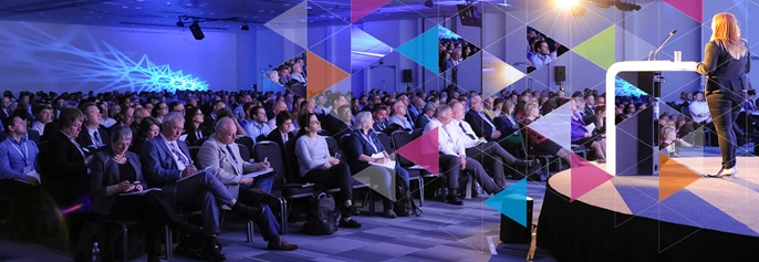 Speaker and audience at the annual IOSh conference