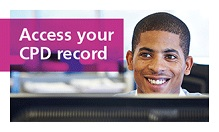 Access your CPD record
