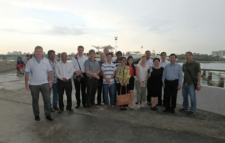Marina Barrage group photo