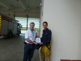 Technical Visit to Marina Bay Fire Station