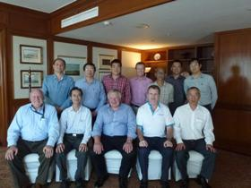 Tim Briggs, IOSH President Elect and members from the Singapore Branch after CPD seminar