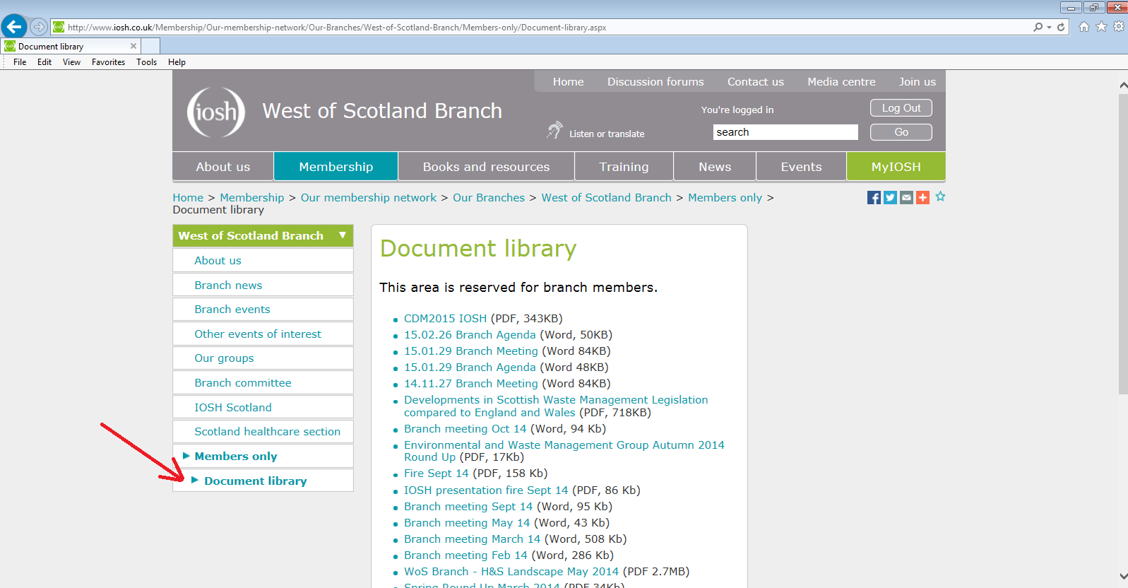 Document library - West of Scotland