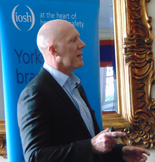 Hugo Bibby tlaking at a Yorkshire Branch meeting