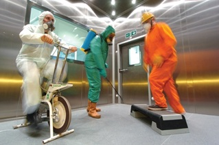 HSL PPE testing in thermal chamber