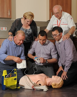 Members of IOSH Midland North District learned about using a defibrillator
