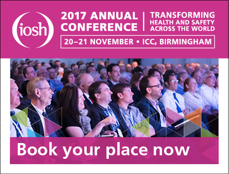 IOSH 2017 annual conferece. Book your place now