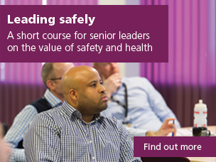 Leading safely: a short course for senior leaders on the value of safety and health. Use this link to find out more.