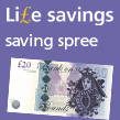 £20 notes to represent IOSH Life savings Saving spree