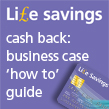 Credit card to represent IOSH Life savings Business case 'How to' guide
