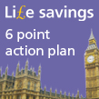 Houses of Parliament IOSH Life savings 6 point action plan