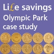 Pound coin to represent IOSH Life savings Olympic Park case study