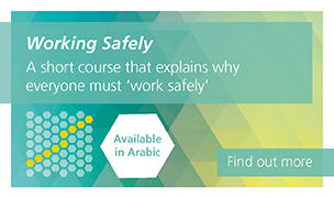 Working Safely available in Arabic