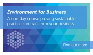 Environment for Business is a one-day course proving sustainable practice can transform your business