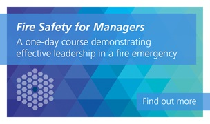 Fire Safety for managers is a one-day course demonstrating effective leadership in a fire emergency