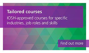 Tailored courses are IOSH-approved courses for specific industries, job roles and skills